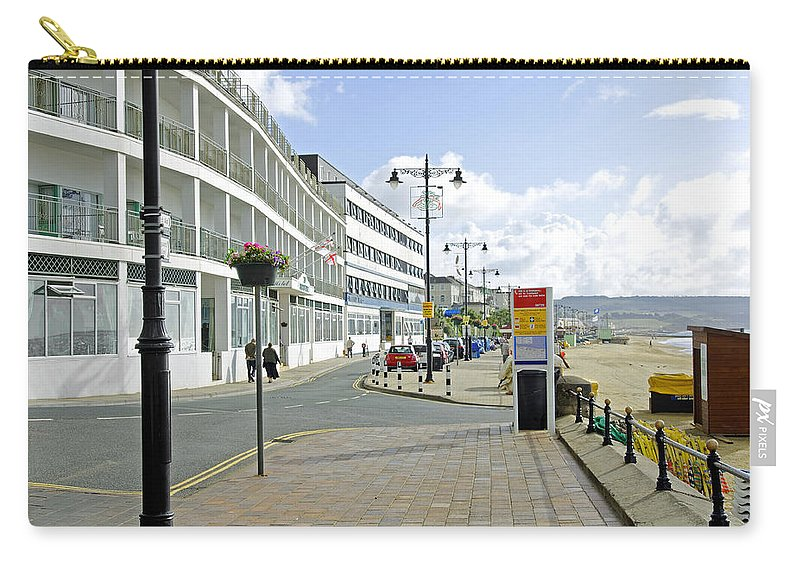 Isle Of Wight Carry-all Pouch featuring the photograph Along The Esplanade At Sandown by Rod Johnson