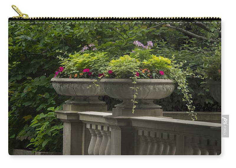 Ivy Carry-all Pouch featuring the photograph Along The Garden Path by Margie Hurwich