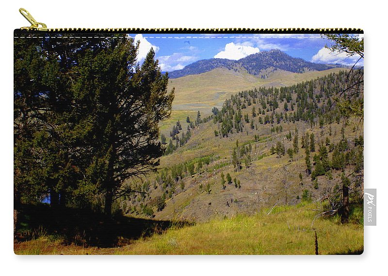 Yellowstone National Park Carry-all Pouch featuring the photograph Along The Hell Roaring Creek Trail by Marty Koch