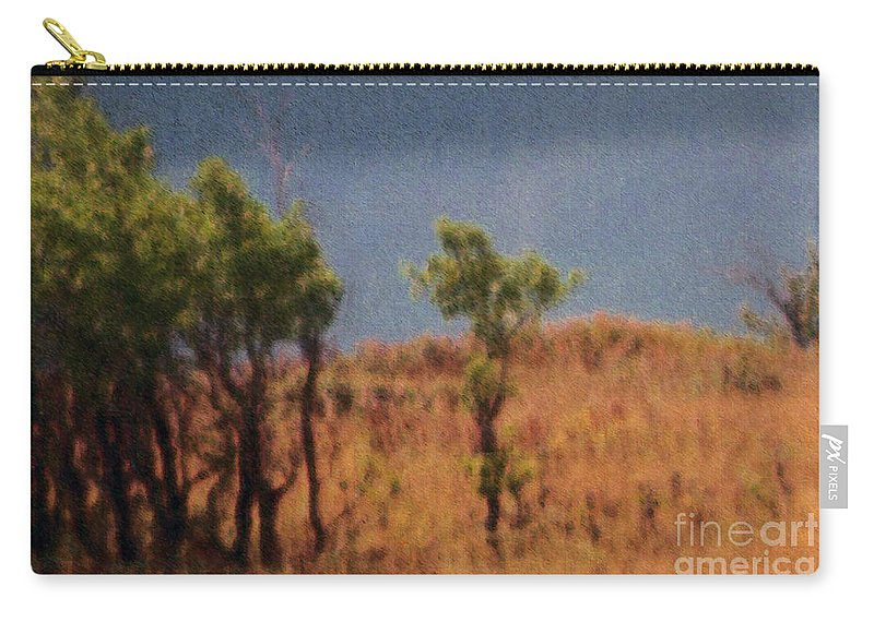 Field Carry-all Pouch featuring the digital art Along The Lake by Richard Rizzo