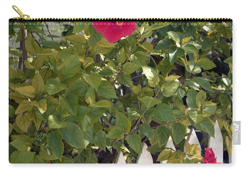 Azelea Carry-all Pouch featuring the photograph Along The Picket Fence by Richard Rizzo