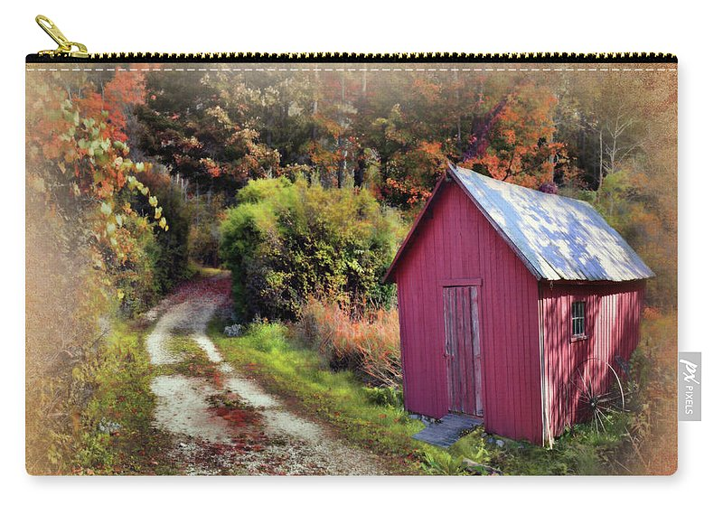 Barns Carry-all Pouch featuring the photograph Along The Way by Reese Lewis