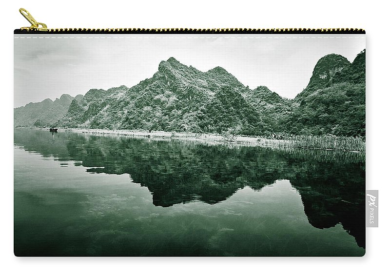 Yen Carry-all Pouch featuring the photograph Along The Yen River by Dave Bowman