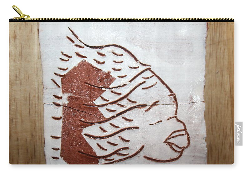 Jesus Carry-all Pouch featuring the ceramic art Aloud - Tile by Gloria Ssali