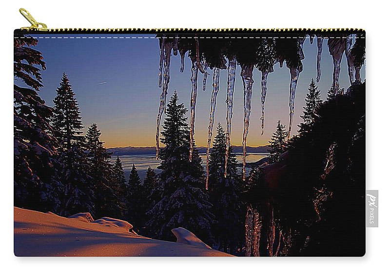 Lake Tahoe Carry-all Pouch featuring the photograph Alpenglow Claws by Sean Sarsfield