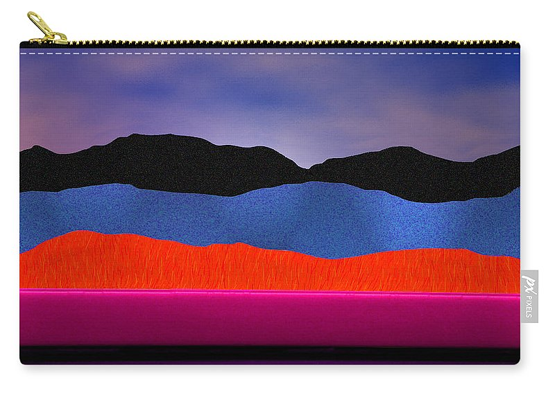 Abstract Carry-all Pouch featuring the photograph Alpenglow by Paul Wear