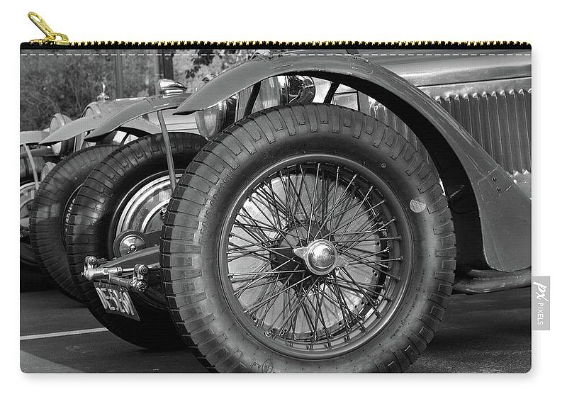 Alfa Romeo Carry-all Pouch featuring the photograph Alpha Pack by Whispering Peaks Photography