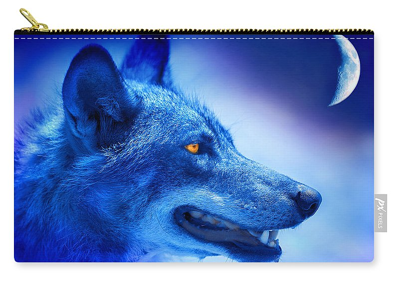 Wolf Carry-all Pouch featuring the photograph Alpha Wolf by Mal Bray