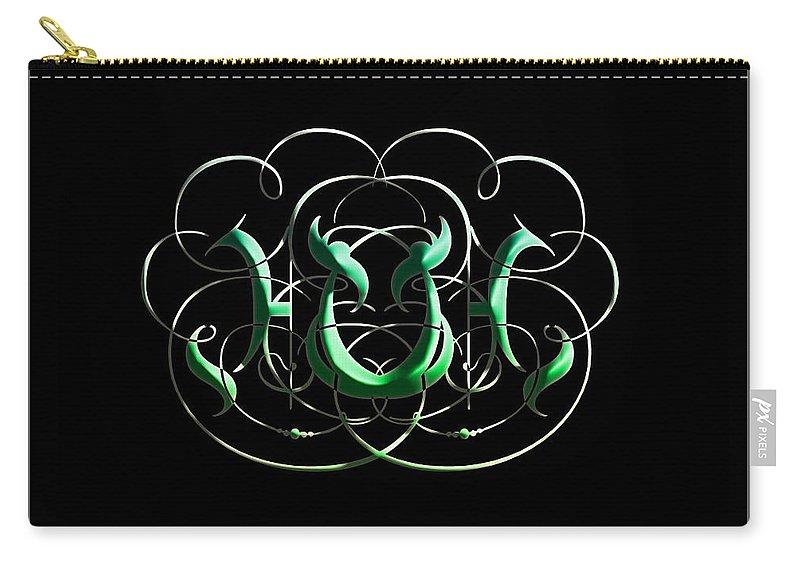 Carry-all Pouch featuring the digital art Alphabet Art1 by Kipchirchir Chemitei
