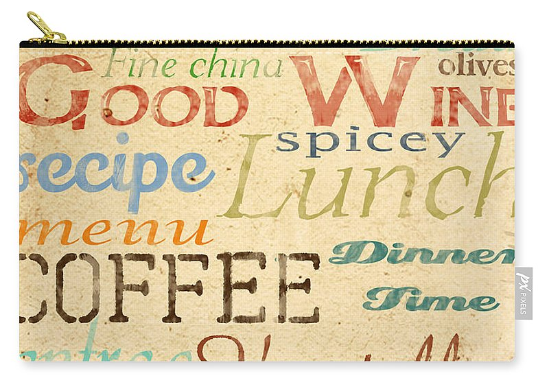 Jean Plout Carry-all Pouch featuring the painting Alphabet Soup-a by Jean Plout