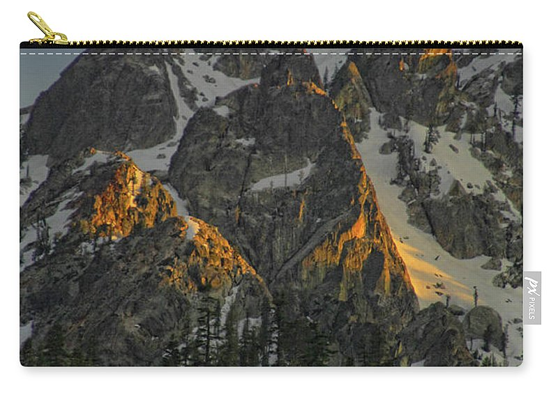 Mountan Carry-all Pouch featuring the photograph Alpine Glow by Donna Blackhall