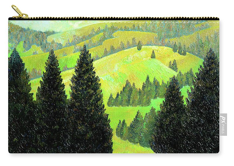 Alps Carry-all Pouch featuring the painting Alpine Hills by Richard Votch