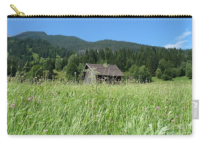 Alpine Carry-all Pouch featuring the photograph Alpine Meadow by Carol Groenen
