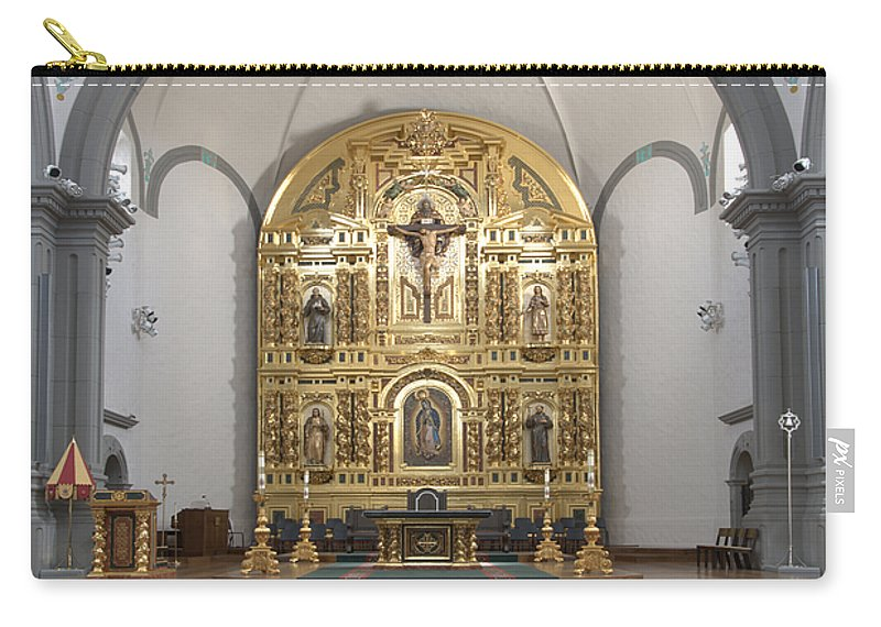 Architecture Carry-all Pouch featuring the photograph Alter San Juan Capistrano by Bob Christopher