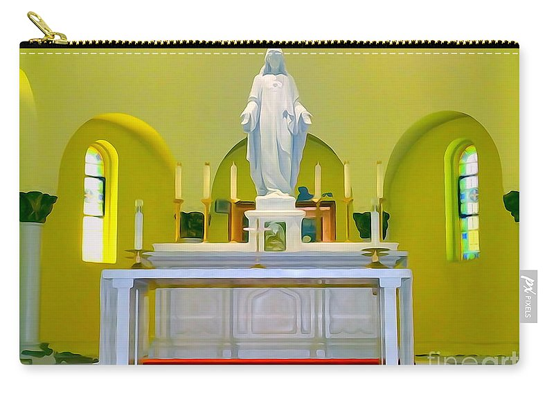 Digital Art Carry-all Pouch featuring the photograph Altered Altar by Ed Weidman
