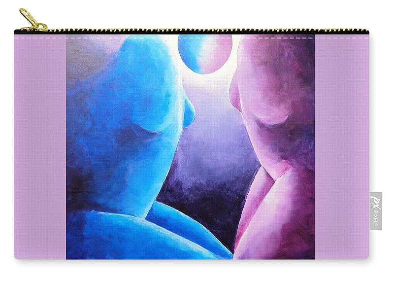 Purple Carry-all Pouch featuring the painting Always... In My Prayers by Jennifer Hannigan-Green
