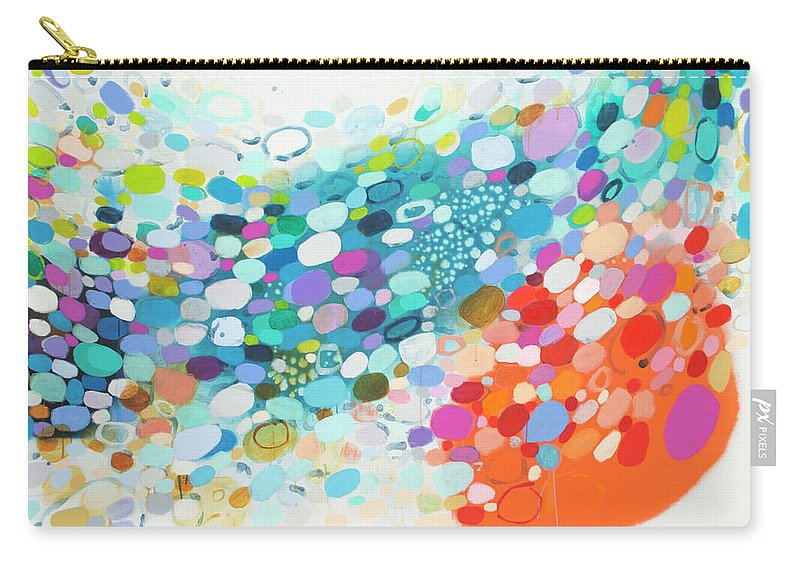 Abstract Carry-all Pouch featuring the painting Always Looking For True Love by Claire Desjardins