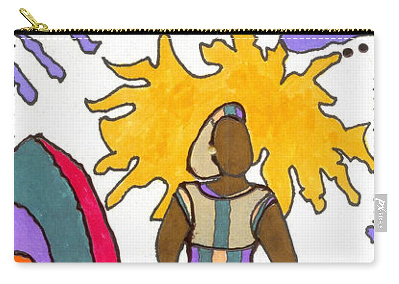 Gretting Cards Carry-all Pouch featuring the mixed media Always Remember by Angela L Walker