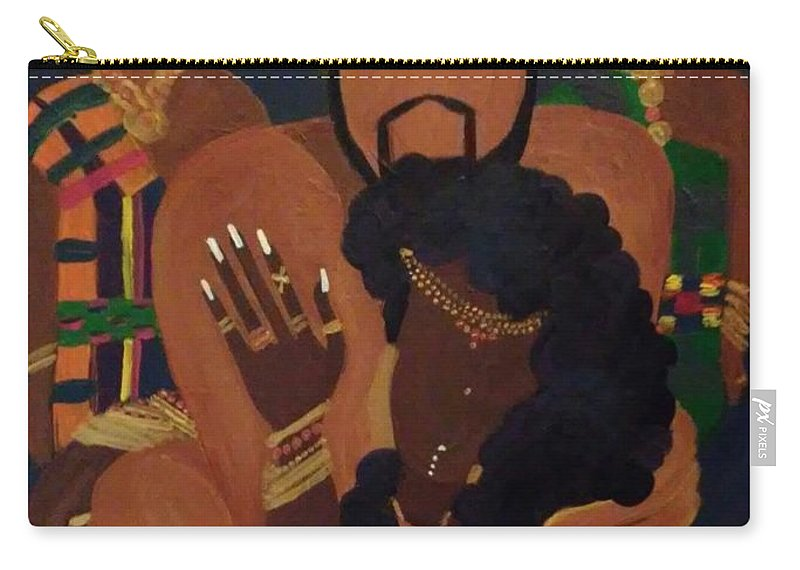 King Carry-all Pouch featuring the painting Always Remember by Autoya Vance