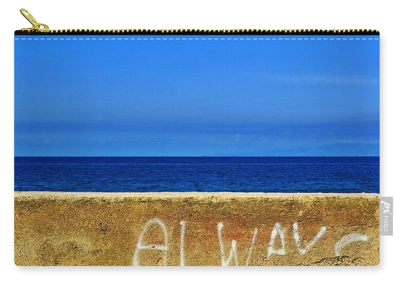 Graffiti Carry-all Pouch featuring the photograph Always by Silvia Ganora
