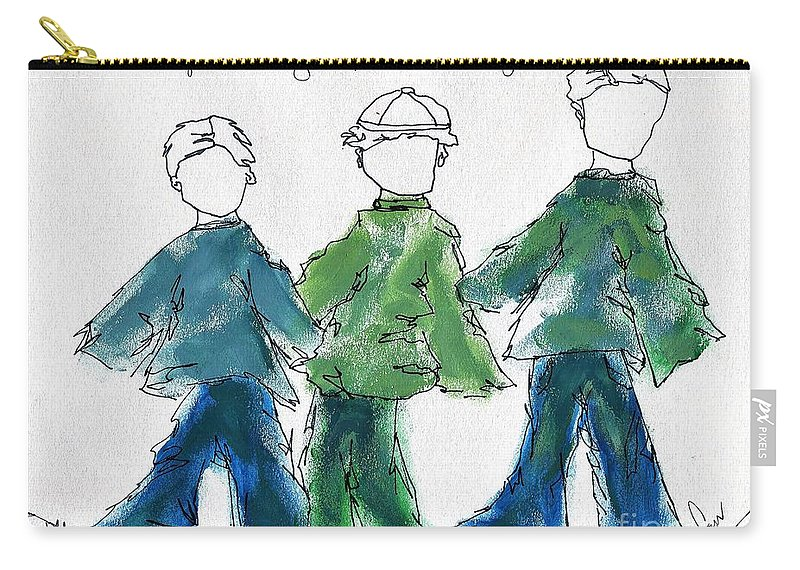 Boys Carry-all Pouch featuring the photograph always wanting it to be Saturday by Hew Wilson