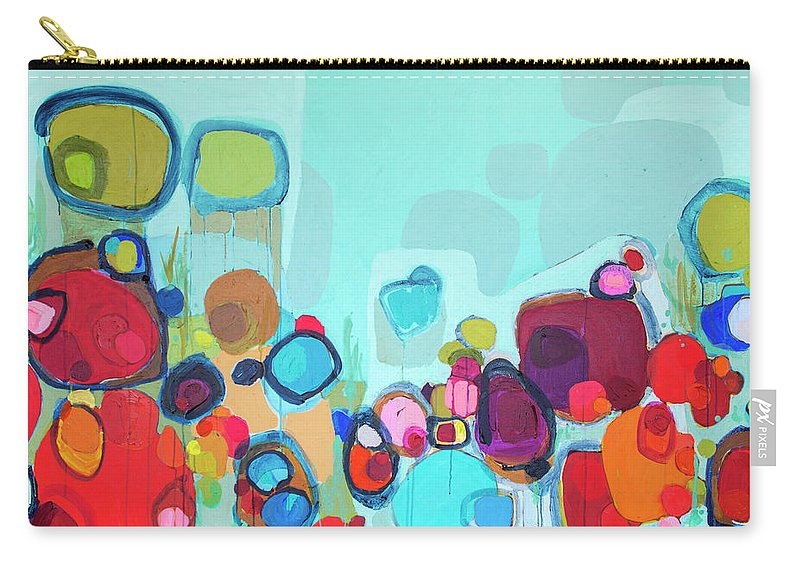 Abstract Carry-all Pouch featuring the painting Always Will Be by Claire Desjardins
