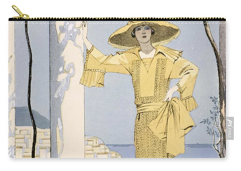 Carry-all Pouch featuring the painting Amalfi by Georges Barbier