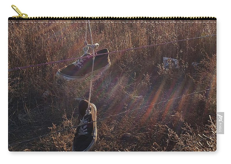 Amarillo Carry-all Pouch featuring the digital art Amarillo by Catie Shears