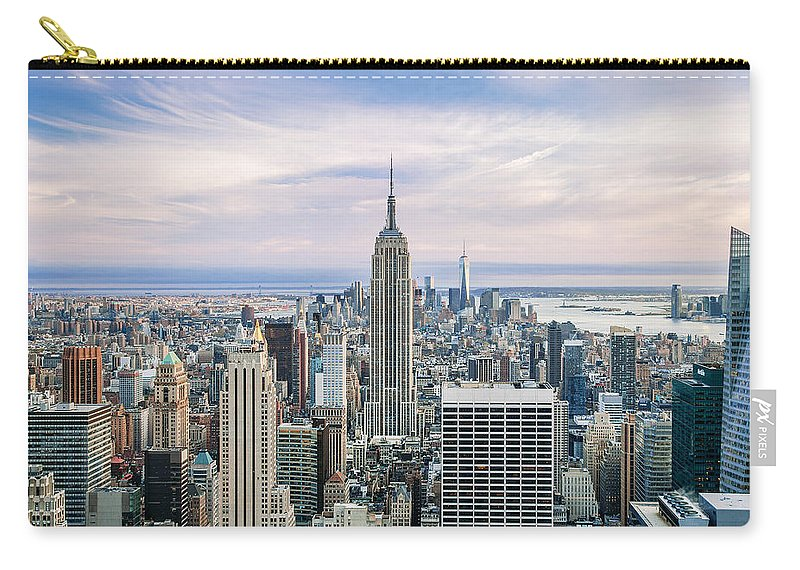 Empire State Building Carry-all Pouch featuring the photograph Amazing Manhattan by Az Jackson
