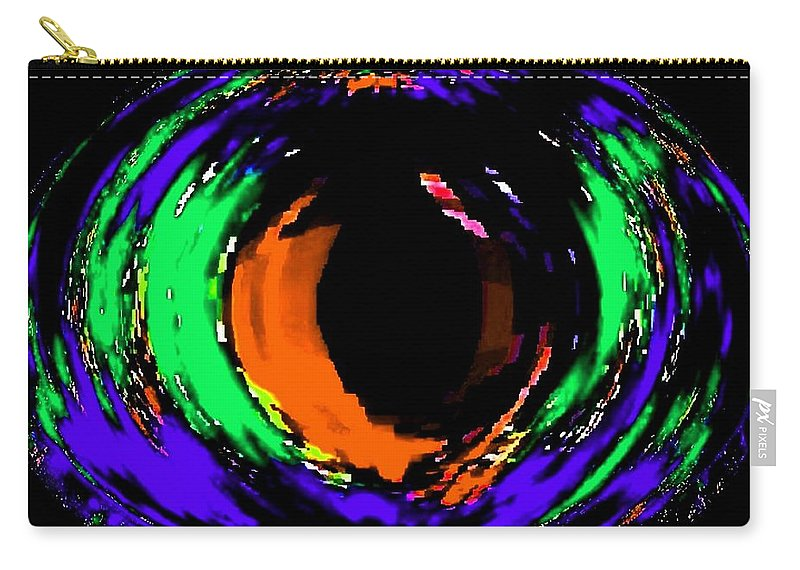 Abstract Carry-all Pouch featuring the digital art Amber Eye by Will Borden