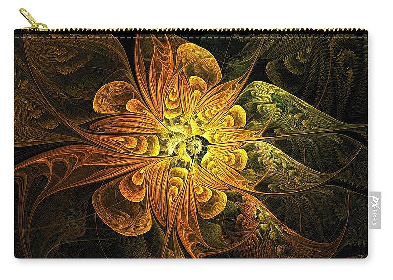 Digital Art Carry-all Pouch featuring the digital art Amber Light by Amanda Moore