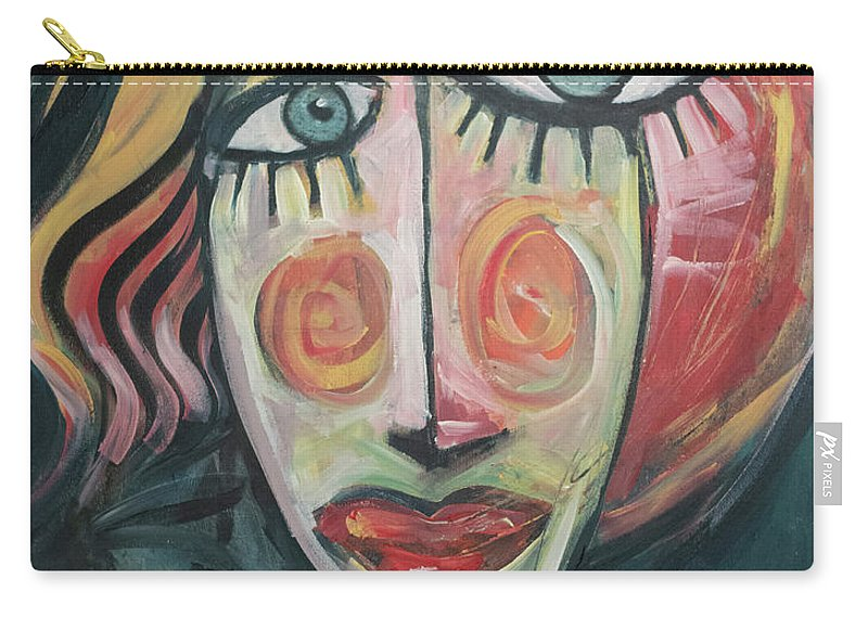 Woman Carry-all Pouch featuring the painting Amber by Tim Nyberg