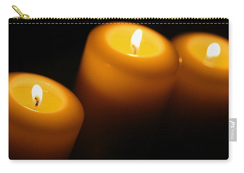 Candle Carry-all Pouch featuring the photograph Ambiance by Angela Rath