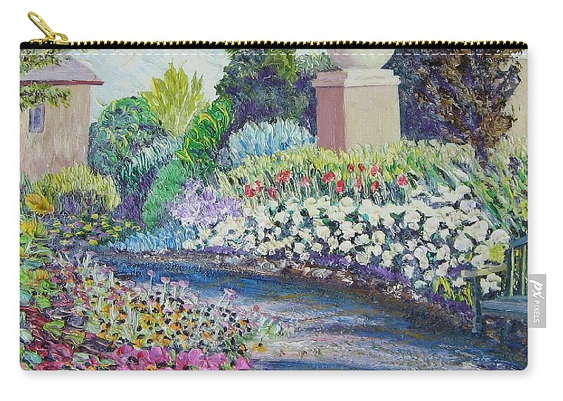 Flowers Carry-all Pouch featuring the painting Amelia Park Pathway by Richard Nowak