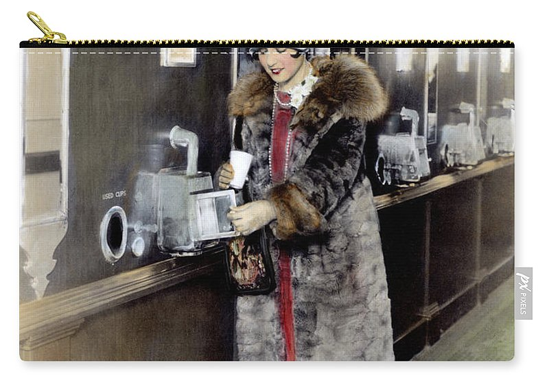 1925 Carry-all Pouch featuring the photograph America: Automat, C1925 by Granger