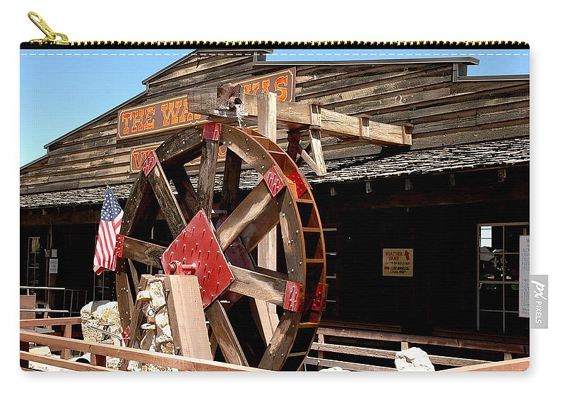 Usa Carry-all Pouch featuring the photograph America Water Wheel by LeeAnn McLaneGoetz McLaneGoetzStudioLLCcom