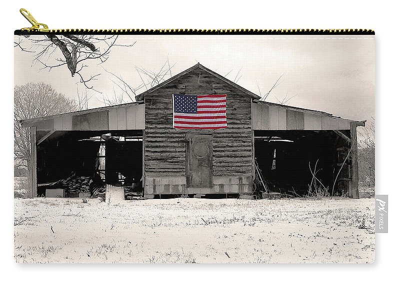 Barn Carry-all Pouch featuring the photograph American Barn by Phil Rowe