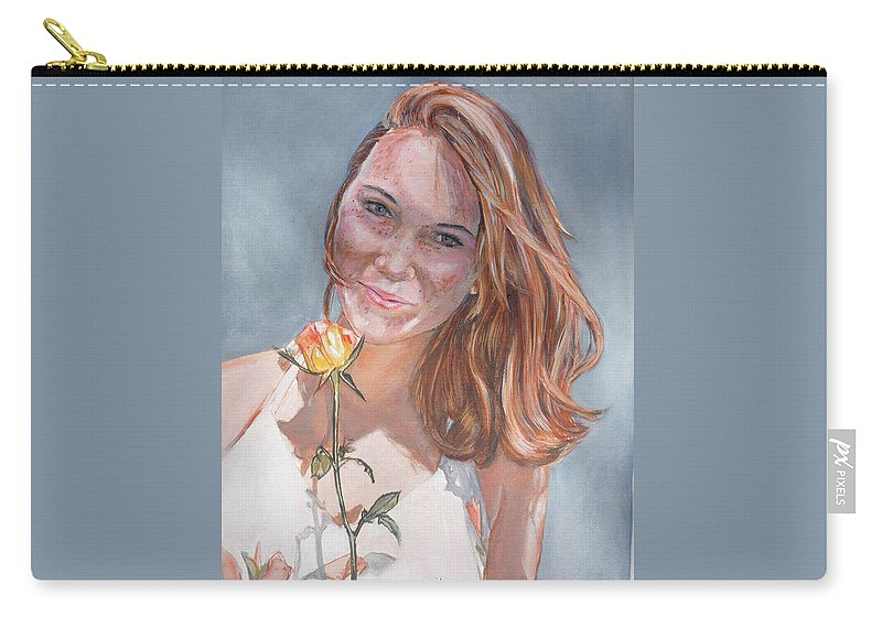 Innocent Carry-all Pouch featuring the painting American Beauty by Bryan Bustard
