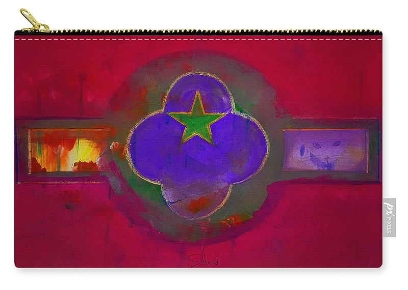 Star Carry-all Pouch featuring the painting American Cats And Flowers by Charles Stuart
