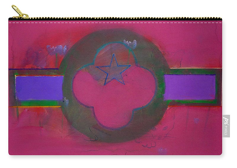 Star Carry-all Pouch featuring the painting American Cats And Poppies by Charles Stuart