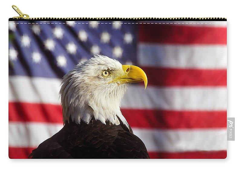 Bald Eagle Carry-all Pouch featuring the photograph American Eagle by David Lee Thompson