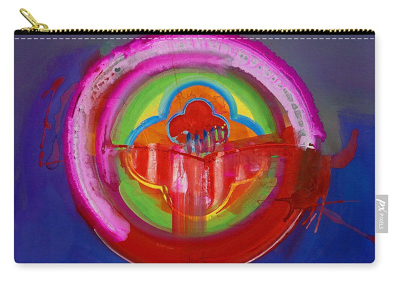Button Carry-all Pouch featuring the painting American Evangelical by Charles Stuart