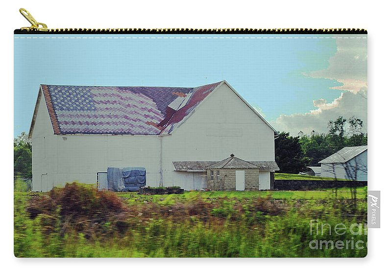 American Carry-all Pouch featuring the photograph American Farm by Jost Houk