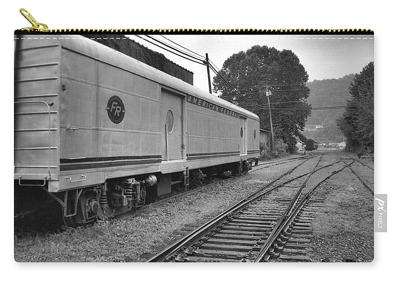 Trains Carry-all Pouch featuring the photograph American Federail by Richard Rizzo