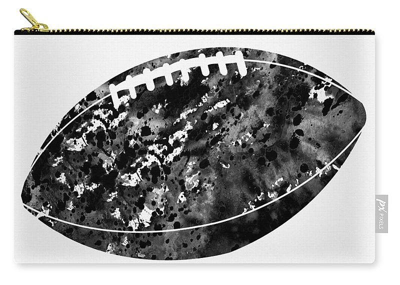 American Football Carry-all Pouch featuring the digital art American Football-black by Erzebet S