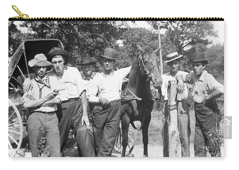1900 Carry-all Pouch featuring the photograph American Gang, C1900 by Granger