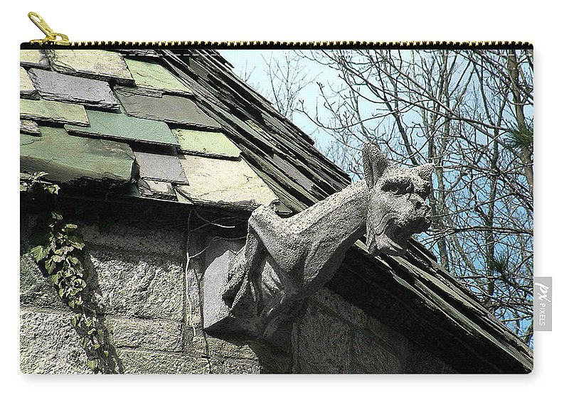 Architecture Carry-all Pouch featuring the photograph American Gargoyle by RC DeWinter