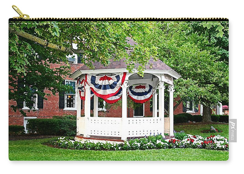 Gazebo Carry-all Pouch featuring the photograph American Gazebo by Margie Wildblood