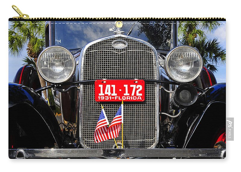 Ford Carry-all Pouch featuring the photograph American Grill by David Lee Thompson