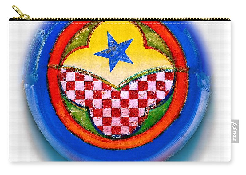Pinball Carry-all Pouch featuring the painting American Happiness Button by Charles Stuart
